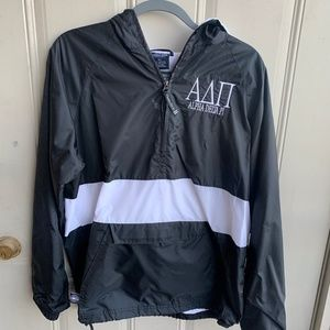 Alpha Delta Pi Charles River Raincoat Size Small